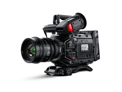 Image of the front left side of the blackmagic ursa mini pro