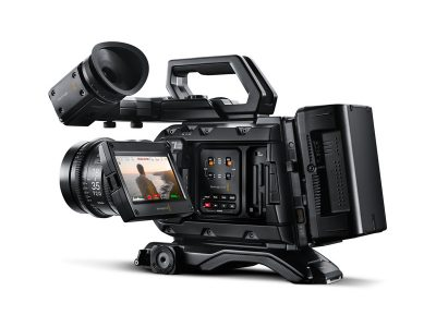 image of the rear left side of the blackmagic ursa mini pro